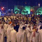 حقيقة خروج مظاهرات بقطر تندد بالقواعد الأمريكة.