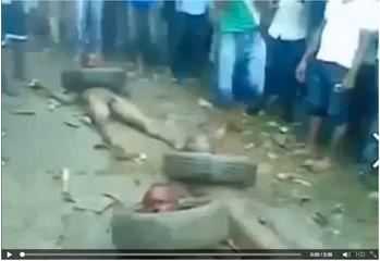 حقيقة فيديو حرق مسلمي افريقيا الوسطى احياء