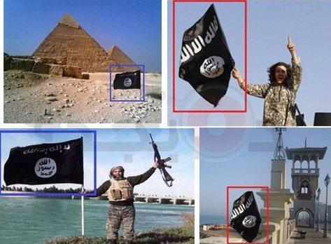 حقيقة صور داعش امام الأهرامات و كوبرى ستانلي