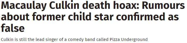 حقيقة وفاة ماكولي كولكين