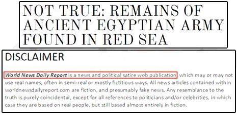 حقيقة العثور علي بقايا جيش فرعون في البحر الأحمر