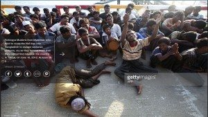 حقيقية صورة لمسلمي بورما في طريقهم للإحراق