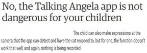 حقيقة تجسس لعبة Talking Angela