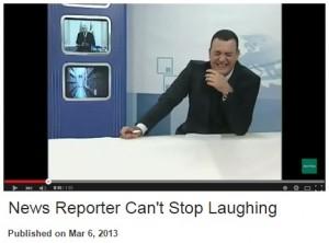 حقيقة مذيع حوثي يضحك على عاصفة الحزم