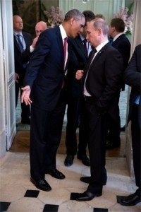 حقيقة صورة اهانة بوتين لأوباما