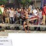 حقيقة صورة احد متظاهري الاخوان بالملابس الداخلية