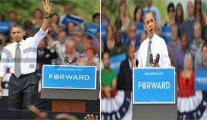حقيقة رفع باراك اوباما لاشارة رابعة