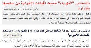 حقيقة المهندس محمد حبيب الإخوانى الذي يعمل بوزارة الكهرباء.