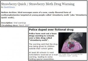 حقيقة مخدرات على شكل فراولة