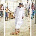 حقيقة داعشي يلعب الكرة بطفل