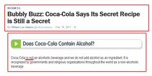 حقيقة اكتشاف سر وصفة كوكاكولا