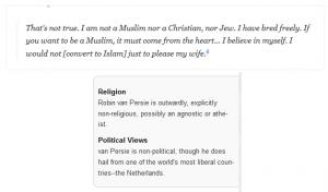 حقيقة اسلام فان بيرسي