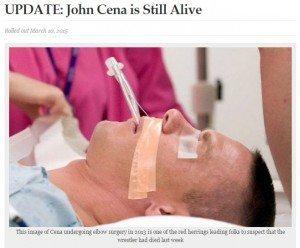 حقيقة وفاة جون سينا