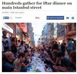 حقيقة افطار اكثر من ٢٠٠٠٠ شخص بشارع بوند في لندن