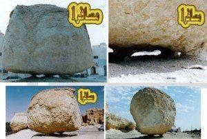 حقيقة الصخرة الطائرة في السعودية