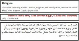 حقيقة قرار جمهوري حول الإعفاء من تأشيرات الدخول مع جنوب السودان