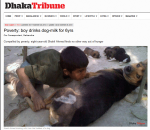 حقيقة رضاعة طفل من كلبة في سوريا