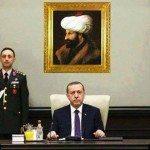 حقيقة صورة محمد الفاتح خلف اردوغان
