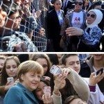 حقيقة صورة ميركل واللاجئين السوريين