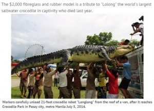 حقيقة صورة نقل تمساح عملاق على عربية