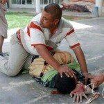 حقيقة صورة القبض على ارهابي اخواني قبل تفجير نفسه