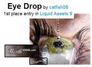 حقيقة صورة لحظة سقوط قطرة العين بتقنية النانوسكند