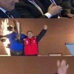 حقيقة رفع بطل الأولمبياد الخاص علامة رابعة أمام السيسي