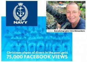 حقيقة صورة البحرية المصرية تحت الماء