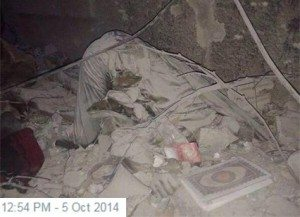 حقيقة صورة شهيد ساجد في حادث الحرم