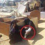حقيقة صورة سيدة الجيش طردها من بيتها في سيناء