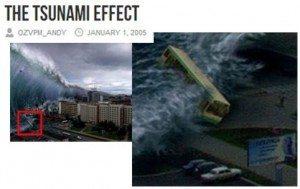 حقيقة صورة تسونامي اليابان