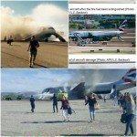 حقيقة اشتعال النيران فى  طائرة ركاب انجليزية