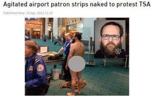 حقيقة تجريد مسافر من ملابسه في فرنسا