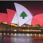 حقيقة اضاءة استرليا لدار الأوبرا بالعلم اللبناني