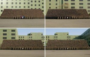 حقيقة صورة رئيس كوريا الشمالية مع الجنود المستجدين دفعة 2015