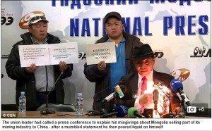 حقيقة وزير الاسكان المنغولي يحرق نفسه امام الكاميرات