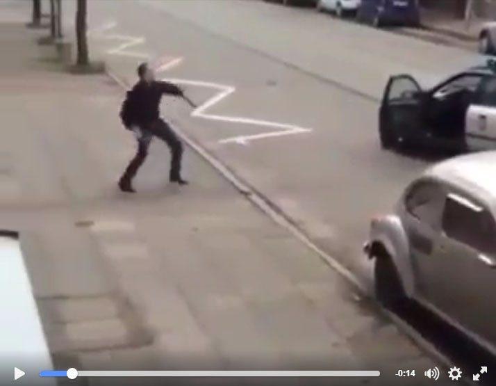 حقيقة قتل شرطة بولندا لشخص في الشارع