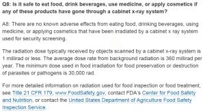 حقيقة تأثير آشعة إكس في ماكينات التفتيش علي الطعام