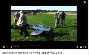 حقيقة طيار مبدع يهبط بطائرة بجناح واحد