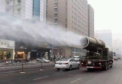 حقيقة سيارة ترش عطور في شوارع الصين