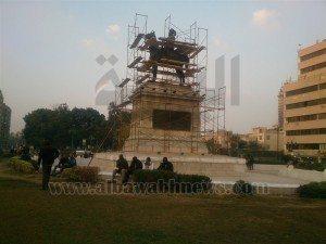 حقيقة تغطية تمثال ابراهيم باشا عشان الملك سلمان هيعدي