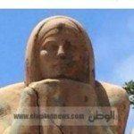 حقيقة اختفاء تمثال كاتم الأسرار من حديقة بالاسكندرية