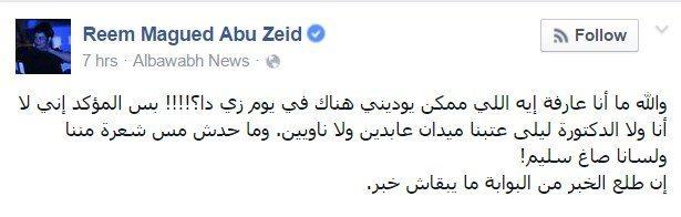حقيقة طرد ريم ماجد ووالدة علاء عبد الفتاح من ميدان عابدين