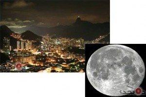 حقيقة أقرب صورة للقمر من البرازيل
