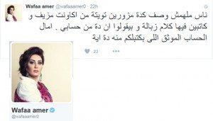 حقيقة تويتة لوفاء عامر عن بيع الجزرتين.