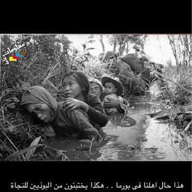حقيقة صورة لاختباء مسلمين في بورما من البوذيين