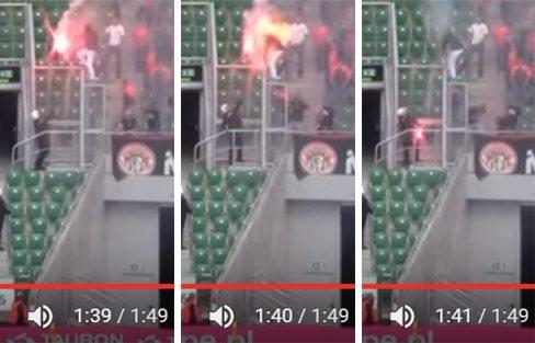 حقيقة حرق الشرطة لمشجع بولندي