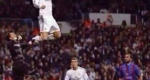 ronaldo jumps high