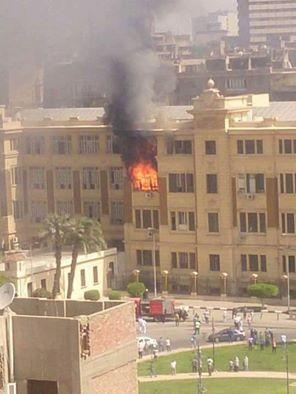 حقيقة حرق خرائط وتاريخ مصر في حريق مبنى محافظة القاهرة