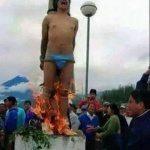 حقيقة حرق رجل في بورما